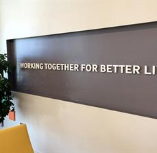 Recessed Dimensional Wall Lettering