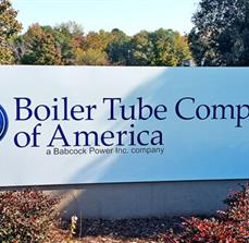 Boiler Tube Company of America Monument Sign