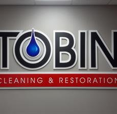 Tobin Cleaning & Restoration Dimensional Wall Letters