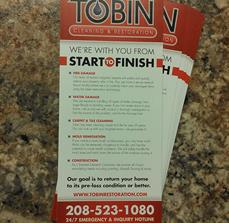 Tobin Cleaning & Restoration Custom Printed Flyers