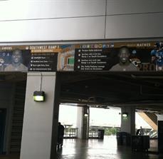 Stadium Wayfinding Banner
