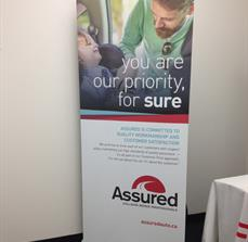 Assured Automotive Banner Stand