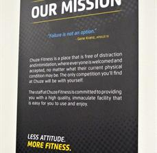 Chuze Fitness Mission Statement Wall Poster