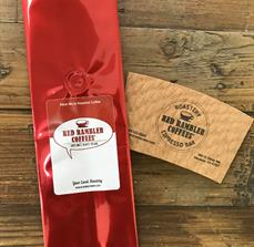 Red Rambler Coffee Bag Decal And Cup Sleeve