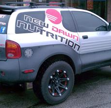 New Dawn Nutrition Vehicle Graphics