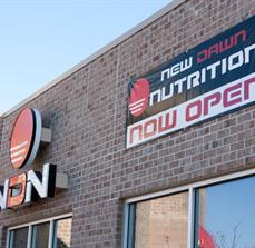 New Dawn Nutrition Dimensional Building Letters And Banner