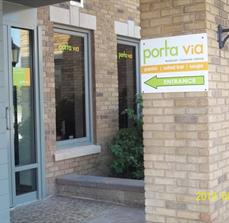 Porta Via Wayfinding Signs And Window Graphics