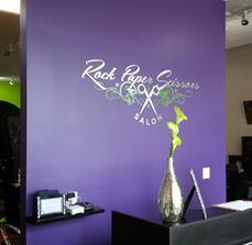 Rock Paper Scissors Salon Dimensional Logo