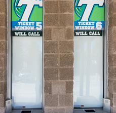 Tulane University Window Graphics