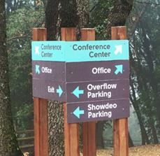 Conference Center Outdoor Wayfinding Sign
