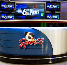 WOWT News Desk Graphics and Digital Displays