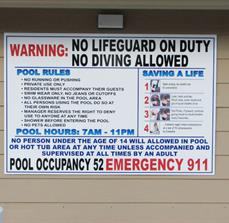 Pool safety signs