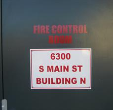 Fire Room Signs