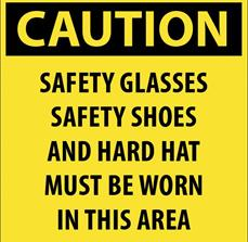 Caution regulatory signs