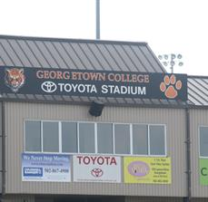 College stadium signs