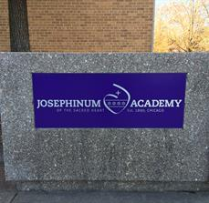 Academy building signs