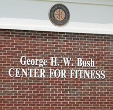 Exterior building lettering