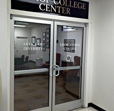 University department signage