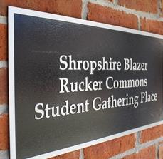 Student center recognition plaque