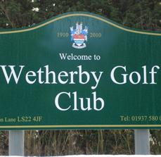 Golf course site signs