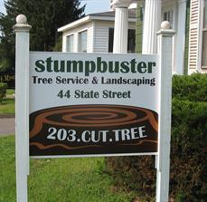 Landscaping company site signs