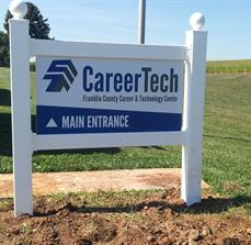 School entrance site signs