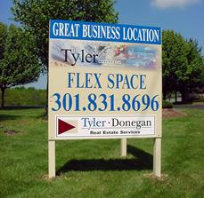 Real estate space site signs
