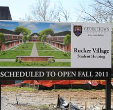 Student Housing Construction Site Signs
