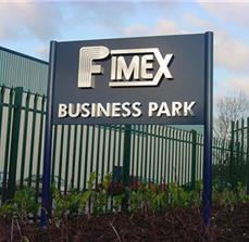 Business park site signs