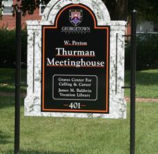 Custom College Site Signs