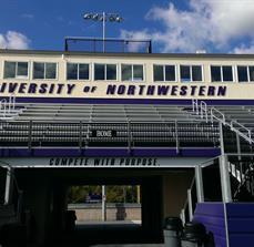 Stadium lettering