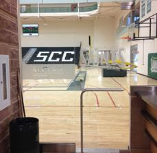 College gymnasium window graphics