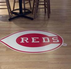 Sports team floor graphics