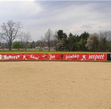 Baseball outfield banners