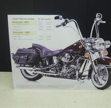 Motorcycle cut out graphic