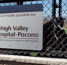 Lehigh Valley Health Network Fence Sign