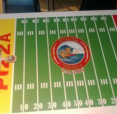 Pizza restaurant table graphics