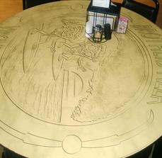 Pizza table top graphics