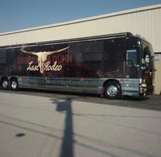 Concert tour bus graphics