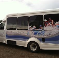 Transportation shuttle graphics