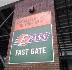 Stadium seat banners