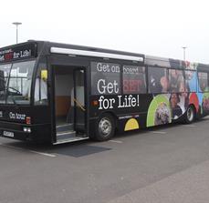 Public transportation bus wraps