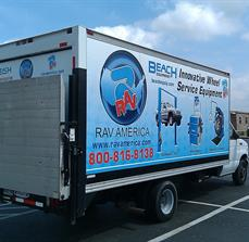 Service truck graphics