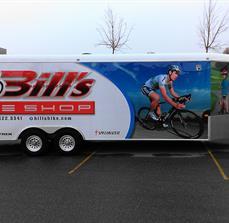 Bill's Bike Shop Trailer Wrap