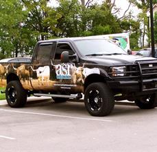 Custom company truck wraps