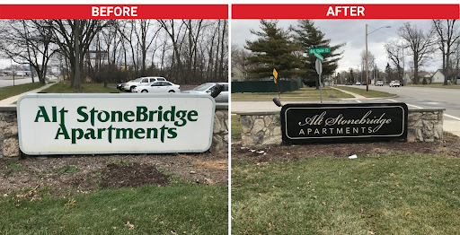 updated business logo - before and after