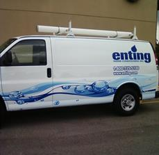 Company van side graphics