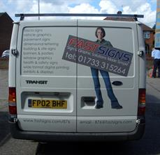 Van back door graphics