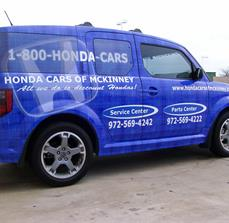 Dealership service center car graphics