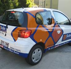Custom real estate car graphics
